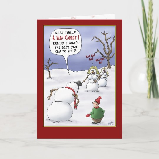 funny christmas cards size matters holiday card