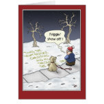 Funny Christmas Cards: Steady Flow Card