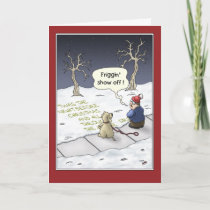 Funny Christmas Cards: Steady Flow Holiday Card