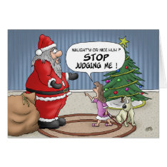 Funny Christmas Cards: Stop Judging Card at Zazzle