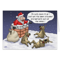 Funny Christmas Cards: Stuck Card