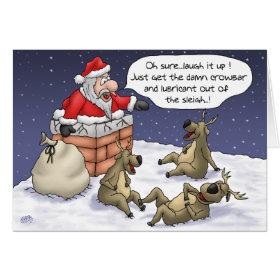 Funny Christmas Cards: Stuck Greeting Card