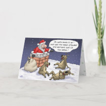Funny Christmas Cards: Stuck Holiday Card