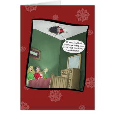 Funny Christmas Cards: The Accident Card at Zazzle