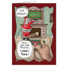 Funny Christmas Cards: 'tis The Season Card at Zazzle