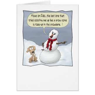 Funny Christmas Cards: Toes Up Card