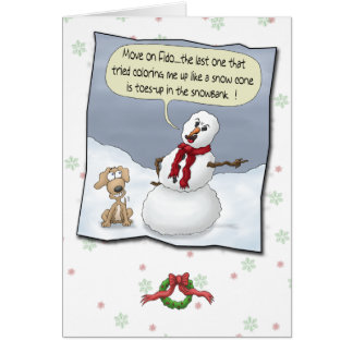 Funny Christmas Cards: Toes Up Greeting Card