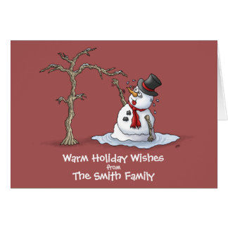 Funny Christmas Cards: Warm Greetings Stationery Note Card