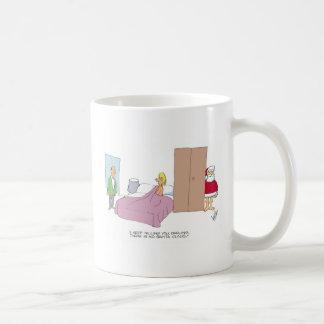 Funny christmas cartoon classic white coffee mug