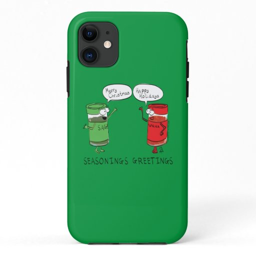 Funny Christmas Cartoon Cooking Spices iPhone 11 Case