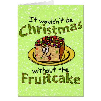 Funny Christmas Cartoon Fruitcake Card