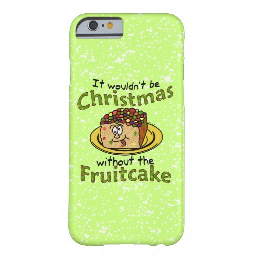 Funny Christmas Cartoon Fruitcake iPhone 6 Case
