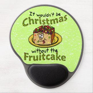 Funny Christmas Cartoon Fruitcake Gel Mouse Pad