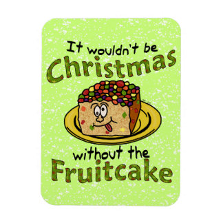Funny Christmas Cartoon Fruitcake Magnet