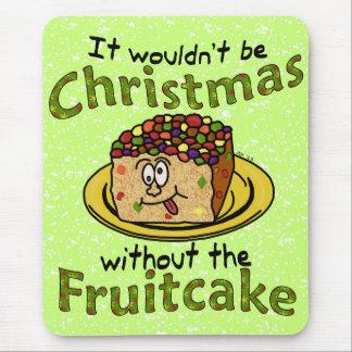 Funny Christmas Cartoon Fruitcake Mouse Pad
