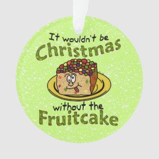 Funny Christmas Cartoon Fruitcake Ornament