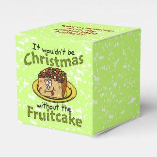 Funny Christmas Cartoon Fruitcake Party Favor Boxes