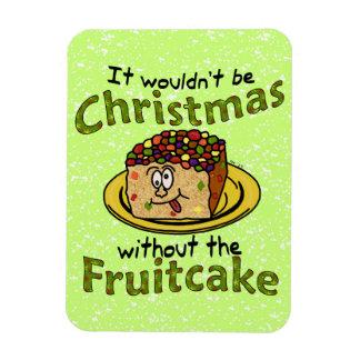 Funny Christmas Cartoon Fruitcake Rectangular Photo Magnet