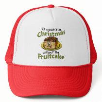 Funny Christmas Cartoon Fruitcake Trucker Hat