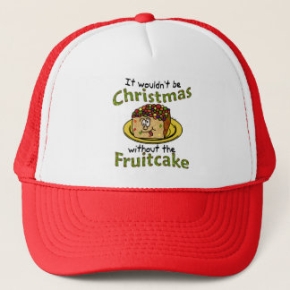 Funny Christmas Cartoon Fruitcake Trucker Hat