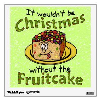 Funny Christmas Cartoon Fruitcake Room Sticker