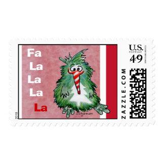 Funny Christmas Cartoon Kiwi Postage Stamp