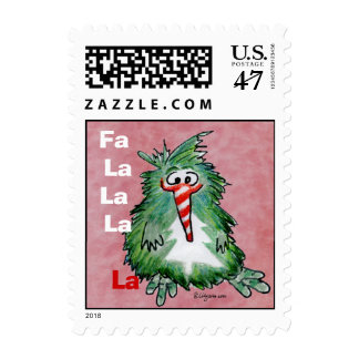 Funny Christmas Cartoon Kiwi Small Postage Stamp