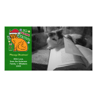 Funny Christmas Cat Feline Festive Holiday Pun Pet Card