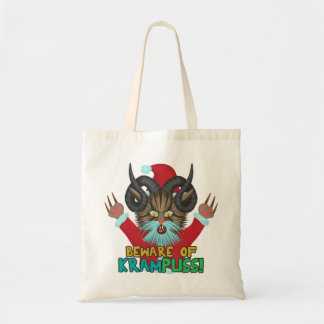 Funny Christmas Cat Humor Krampuss Holidays Pun Tote Bag