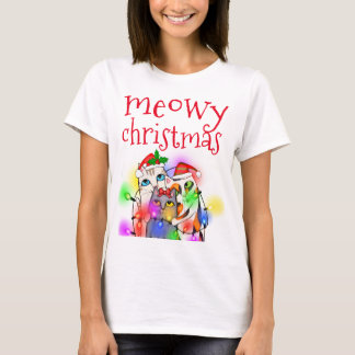 Funny Christmas Cat Lovers Basic T-Shirt