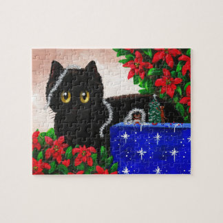 Funny Christmas Cat Mouse Gift Creationarts Puzzle