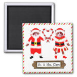 Funny CHRISTMAS CATS 2 Inch Square Magnet