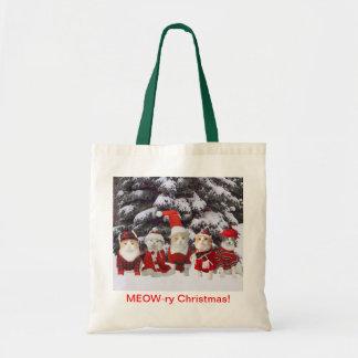Funny Christmas Cats Bag