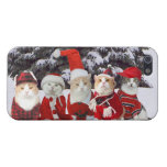Funny Christmas Cats iPhone 5 Cases