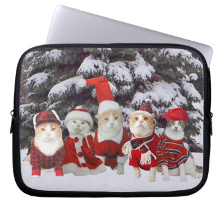 Funny Christmas Cats Laptop Computer Sleeve