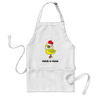 Funny Christmas chick Adult Apron