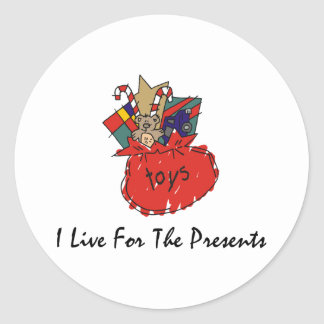 Funny Christmas Classic Round Sticker