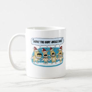 Funny Christmas coffee mug: Hairy Angels Coffee Mug