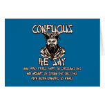 Funny Christmas Confucius Greeting Card