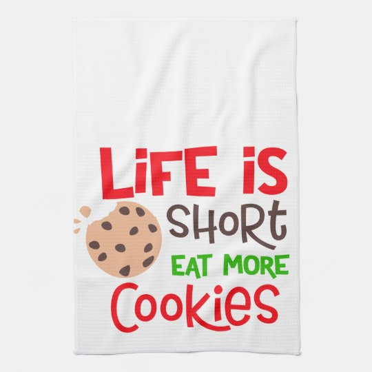 Funny Christmas Cookie Kitchen Towel Decor Zazzle Com