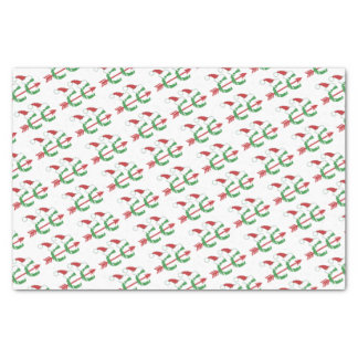 "Funny Christmas Cross Country Running 10"" X 15"" Tissue Paper"