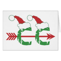 Funny Christmas Cross Country Running Stationery Note Card