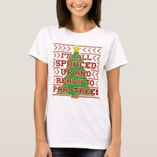 Funny Christmas Cross Stitch Spruce Tree Tacky Pun T-Shirt