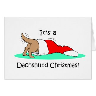 Funny Christmas Dachshund holiday card