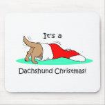 Funny Christmas Dachshund Mousepad