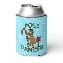 Funny Christmas Dancer Reindeer Pun Can Cooler