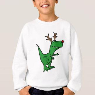 Funny Christmas Dinosaur as Reindeer Sweatshirt