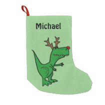 Funny Christmas Dinosaur Stocking