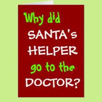 Funny Christmas Doctor Joke - Santa Pun Card