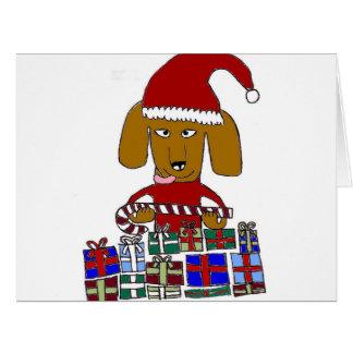 Funny Christmas Dog Greeting Card
